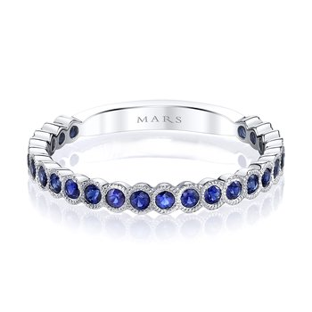 MARS 26259WGBS Stackable Ring, 0.51 Ctw.