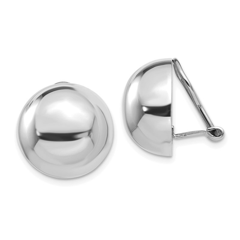 Quality Gold 14k White Gold Polished Non-pierced Earrings