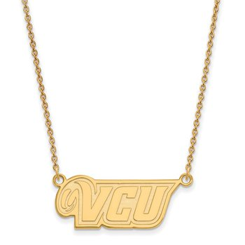 Gold Virginia Commonwealth University NCAA Necklace