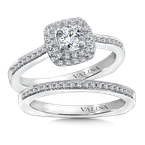 Valina Diamond Halo Engagement Ring Mounting in 14K White Gold (.29 ct. tw.)