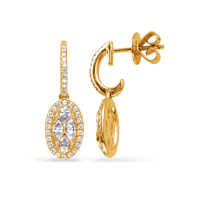 Briana Yellow Gold Diamond Earring