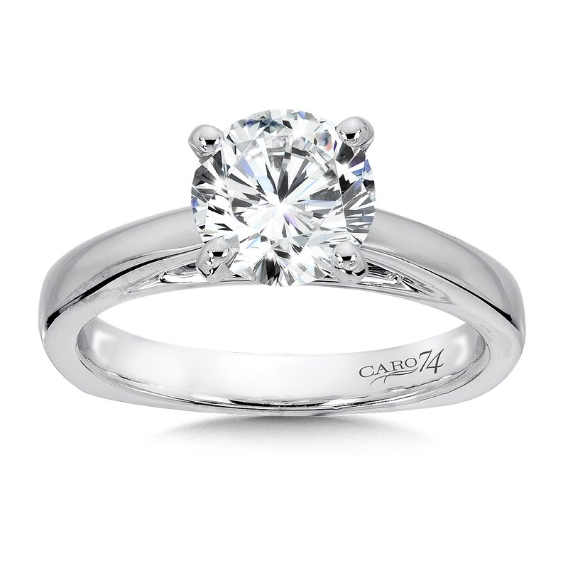 Classic Elegance Collection Diamond Solitaire Engagement Ring in 14K White Gold with Platinum Head (1-1/2 ct.)