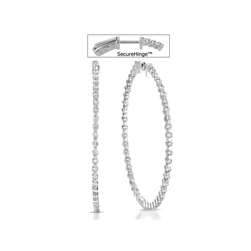 S. Kashi  & Sons 2  Securehinge Hoop Earring