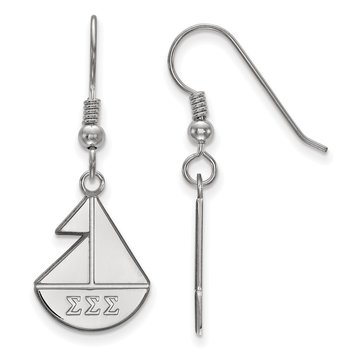 Sterling Silver Sigma Sigma Sigma Greek Life Earrings