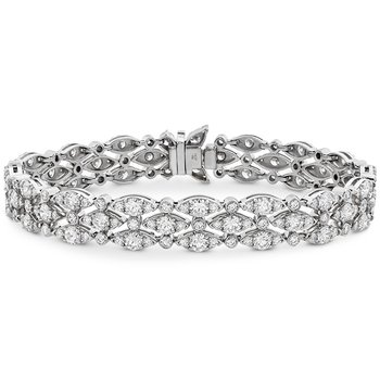 9.1 ctw. HOF Regal Triple Row Bracelet