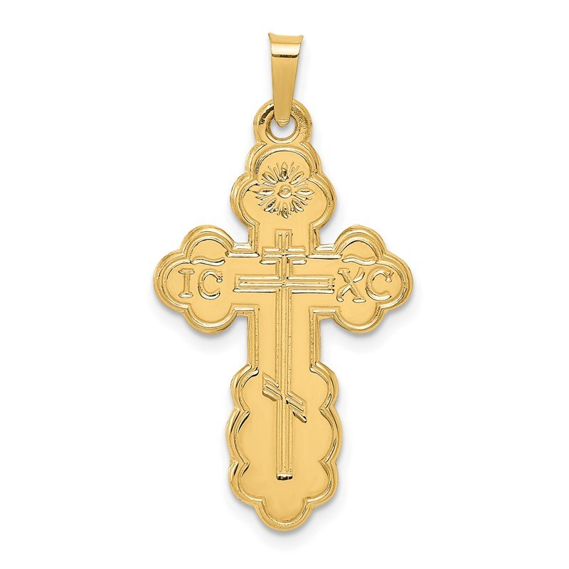 Quality Gold 14k Eastern Orthodox Cross Pendant