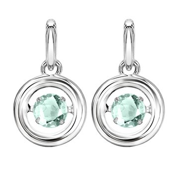 Silver Aquamarine Rhythm Of Love Earrings