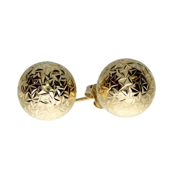 14k Yellow Gold 10mm Ball Stud Earrings