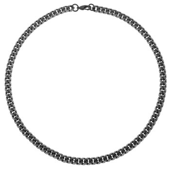 Black Curb Chain 22""