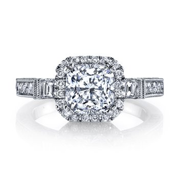 25230 Diamond Engagement Ring 0.77 ct rd 0.13 ct bg