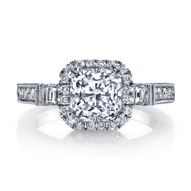 MARS Jewelry 25230 Diamond Engagement Ring 0.77 ct rd 0.13 ct bg