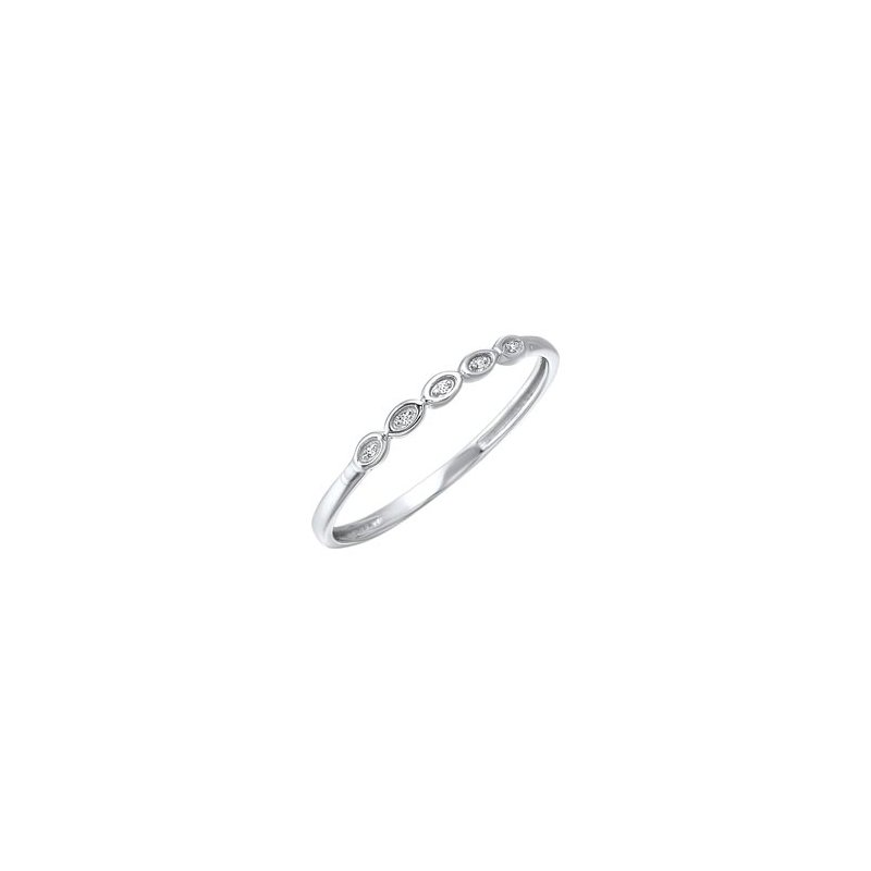 Gems One Diamond Mini Stackable Ring in White Gold (0.01ctw)