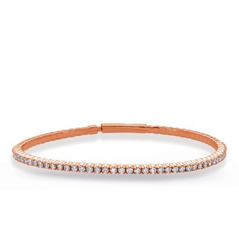 Rose Gold Flexable Bangle Bracelet