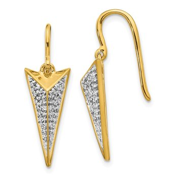 14k Diamond Fancy Dangle Earrings