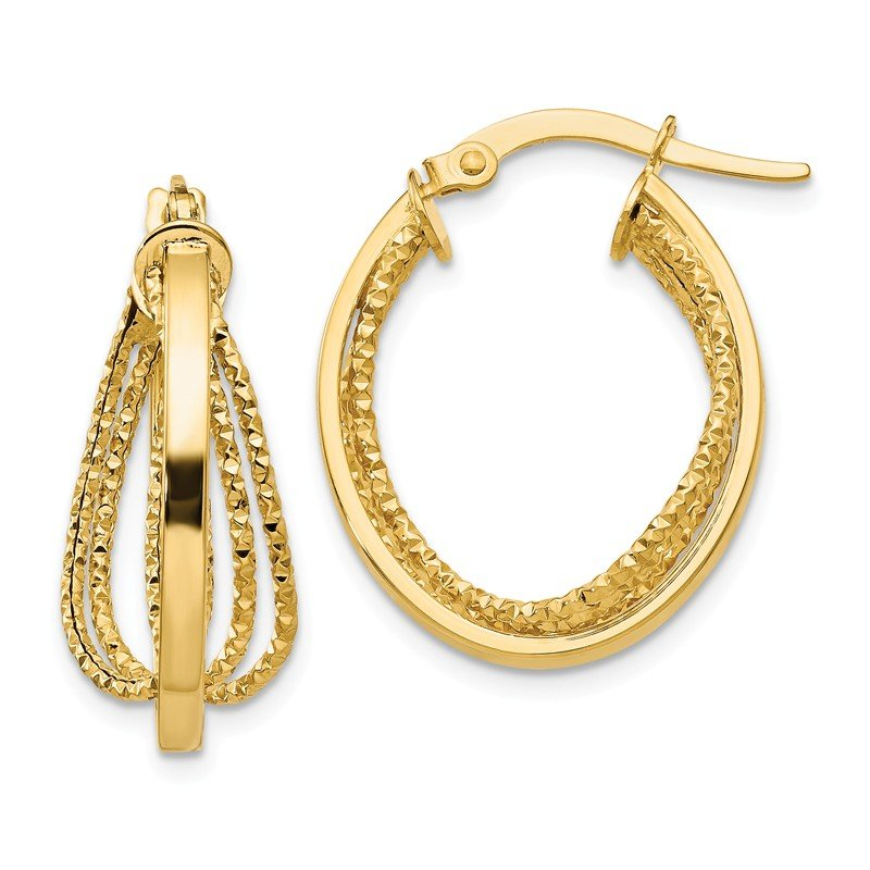 Leslie's Leslie's 14k Polished Twist Hoop Earrings