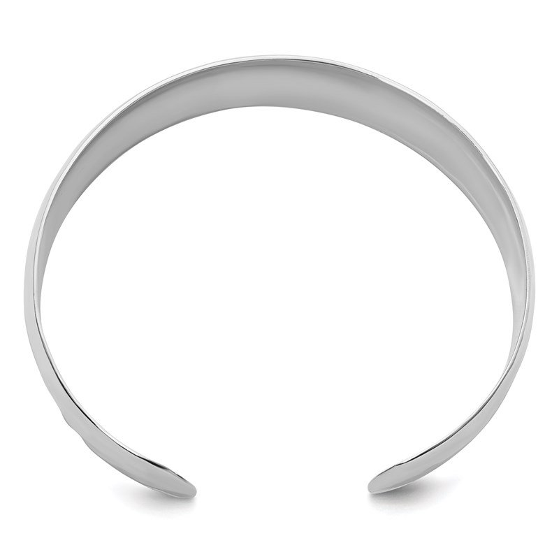 Leslie's Leslie's Sterling Silver Polished Hammered Slip-on Bangle