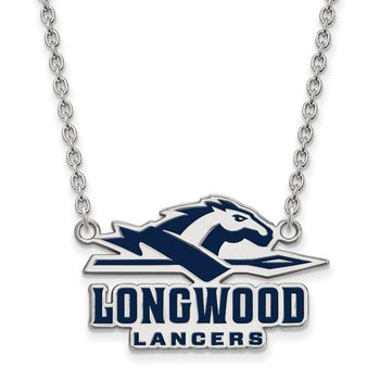 Sterling Silver Longwood University NCAA Necklace