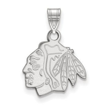 Sterling Silver Chicago Blackhawks NHL Pendant