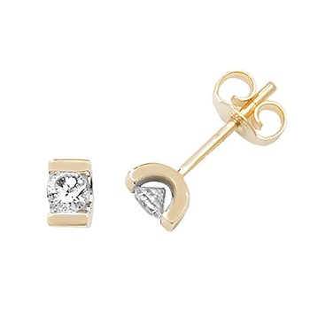 Diamond Single Stone Earrings