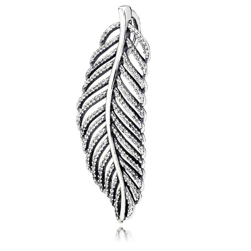 2e599d556 PANDORA Light As A Feather Pendant, Clear Cz. Stock # 390350CZ