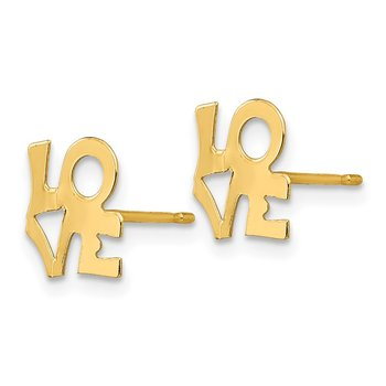 14k Madi K LOVE Post Earring