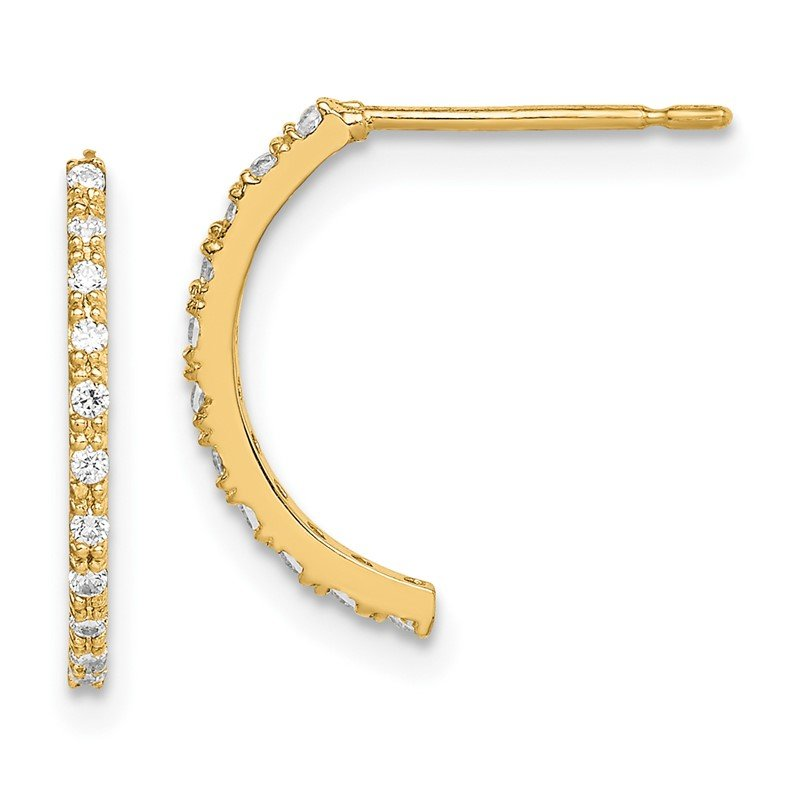 Quality Gold 14k Madi K CZ J - Hoop Earrings