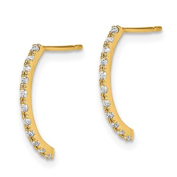 14k Madi K CZ J - Hoop Earrings