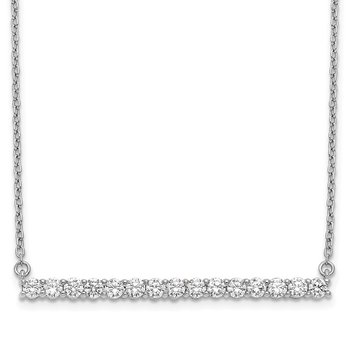 14k White Gold Diamond Bar 18 inch Necklace