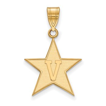Gold-Plated Sterling Silver Vanderbilt University NCAA Pendant