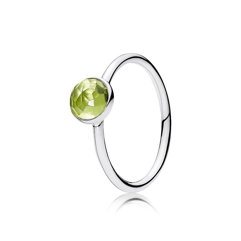 8e09646c3 David Arlen Jewelers: PANDORA August Droplet, Peridot