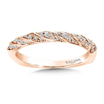 Stackable Wedding Band in 14K Rose Gold (.15 ct. tw.)