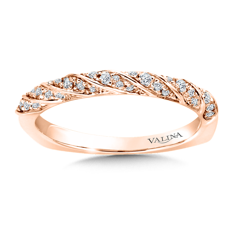 Valina Stackable Wedding Band in 14K Rose Gold (.15 ct. tw.)