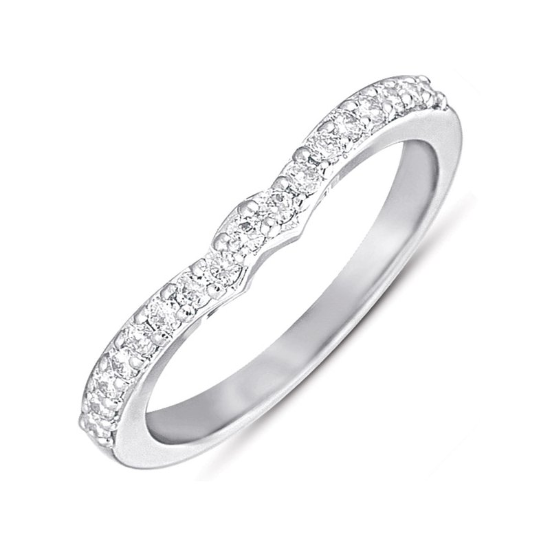 S. Kashi & Sons Bridal White Gold Matching Band for en7279