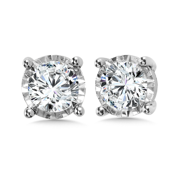1 TDW 4-Prong Diamond Star Studs