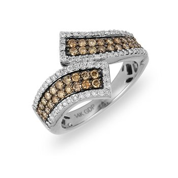 14K WG Champagne Diamond Ring