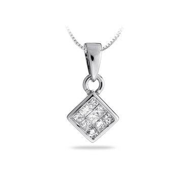 14K WG Diamond All Purpose Pendant