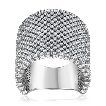 Wide Pavé Ring