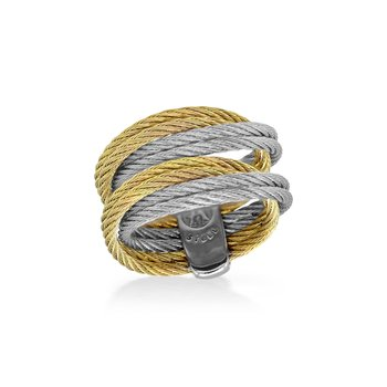 Grey & Yellow Cable Entwine Ring