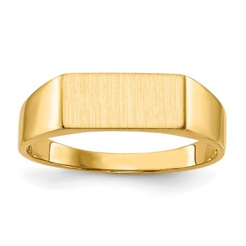 14k 5.5x12.0mm Open Back Signet Ring