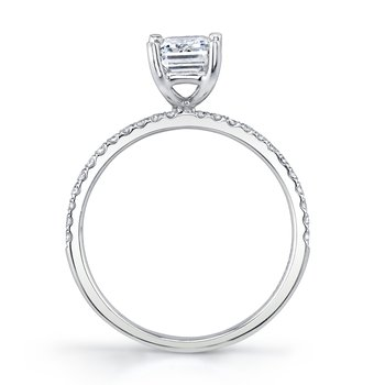 MARS 26297EM Diamond Engagement Ring, 0.15 Ctw.