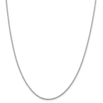 Sterling Silver 1.6mm Corona Chain