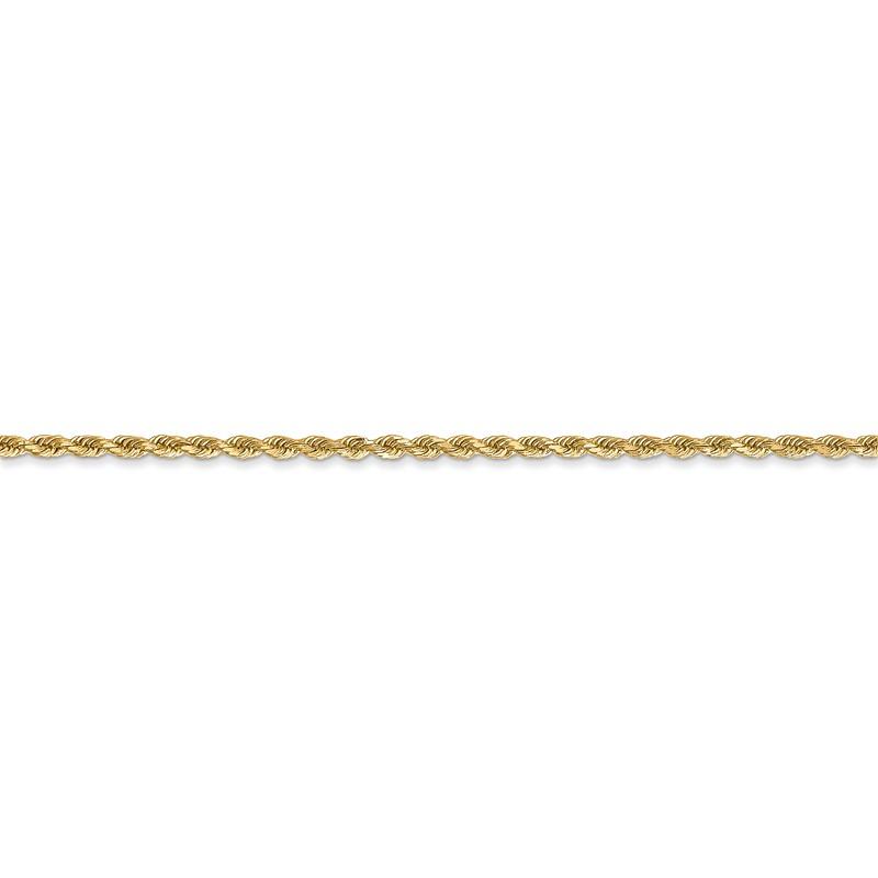 14K White-14K White 1.75mm Solid Rope 7 Chain