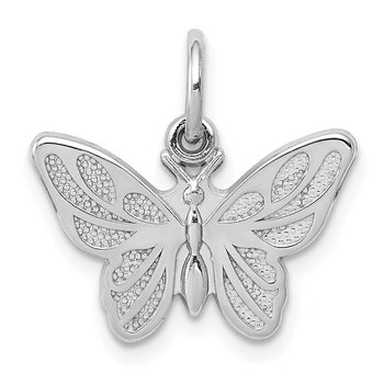 14k White Gold Butterfly Charm
