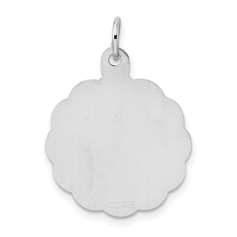 Quality Gold Sterling Silver Rhodium-plated First Holy Communion Disc Charm