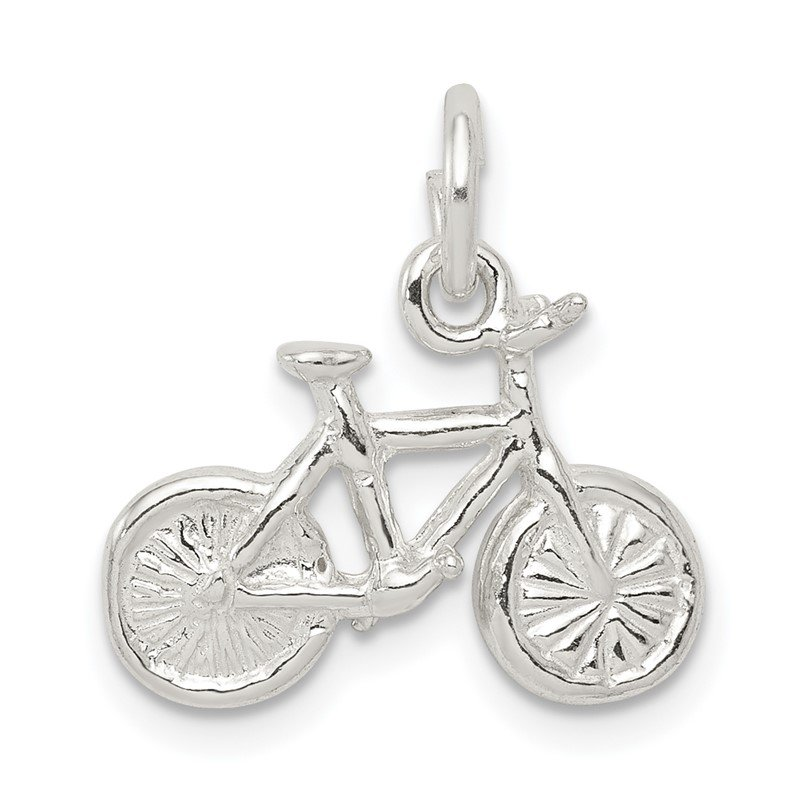 Quality Gold Sterling Silver Bicycle Charm