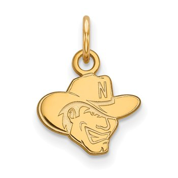 Gold-Plated Sterling Silver University of Nebraska NCAA Pendant