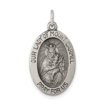 Sterling Silver Antiqued Our Lady of Mt.Carmel Medal