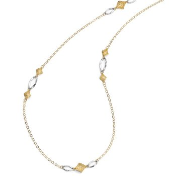 Leslie's 14K Two-Toned Fancy Necklace