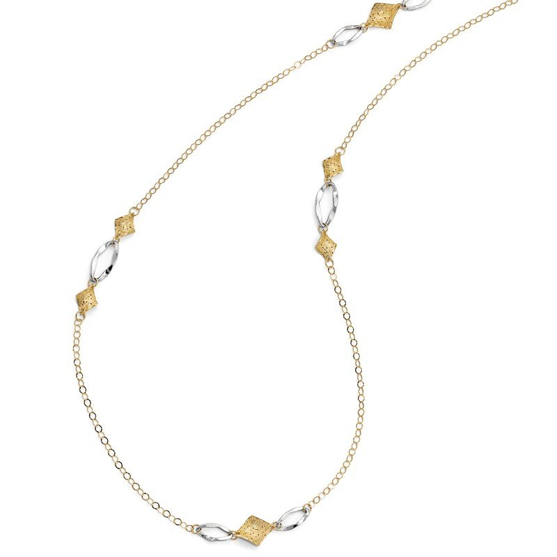 Leslie's Leslie's 14K Two-Toned Fancy Necklace