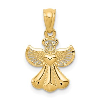 14k Polished Angel Pendant